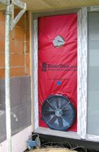 Test BlowerDoor en una vivienda unifamiliar de nueva construcción