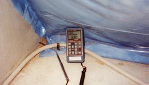 Localización de fugas con el anemómetro